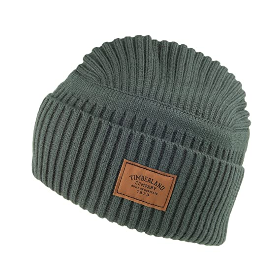 1f50739c60a Timberland Hats Gulf Beach Ribbed Beanie Hat - Green 1-Size  Amazon ...