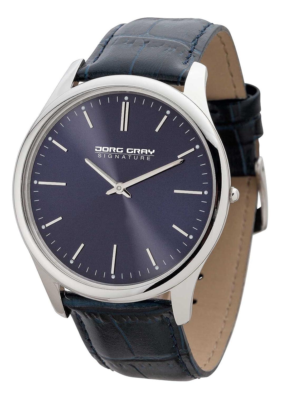 Jorg Gray Men'JS1100 Armbanduhr Analog Leder blau