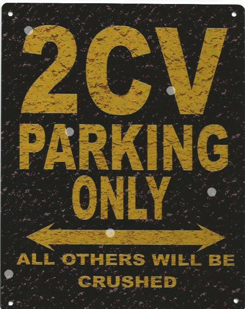 MORGAN PARKING METAL SIGN RUSTIC VINTAGE STYLE 8x10in 20x25cm garage