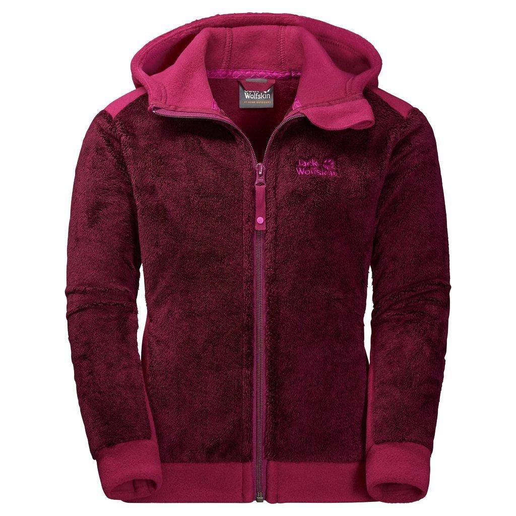 Jack Wolfskin Girl's G Moose Fleece Sweater, Dark Ruby, Size 104 (3-4 Years)