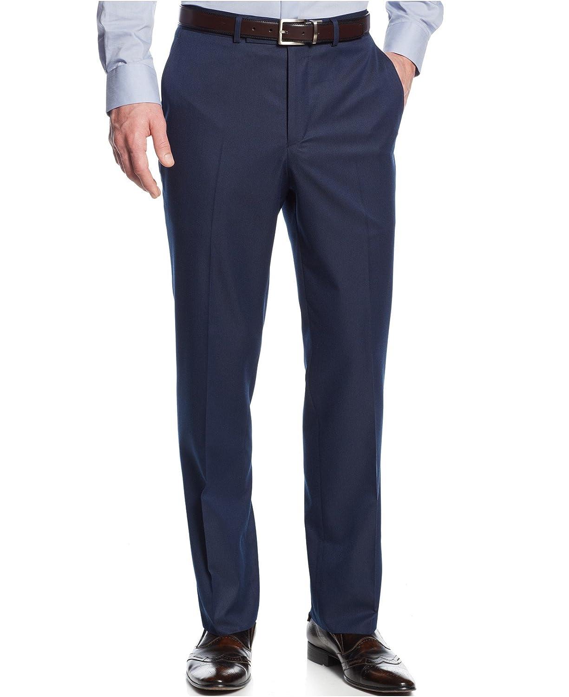 Kenneth Cole Reaction Blue Pinstripe Flat Front New Men's Dress Pants