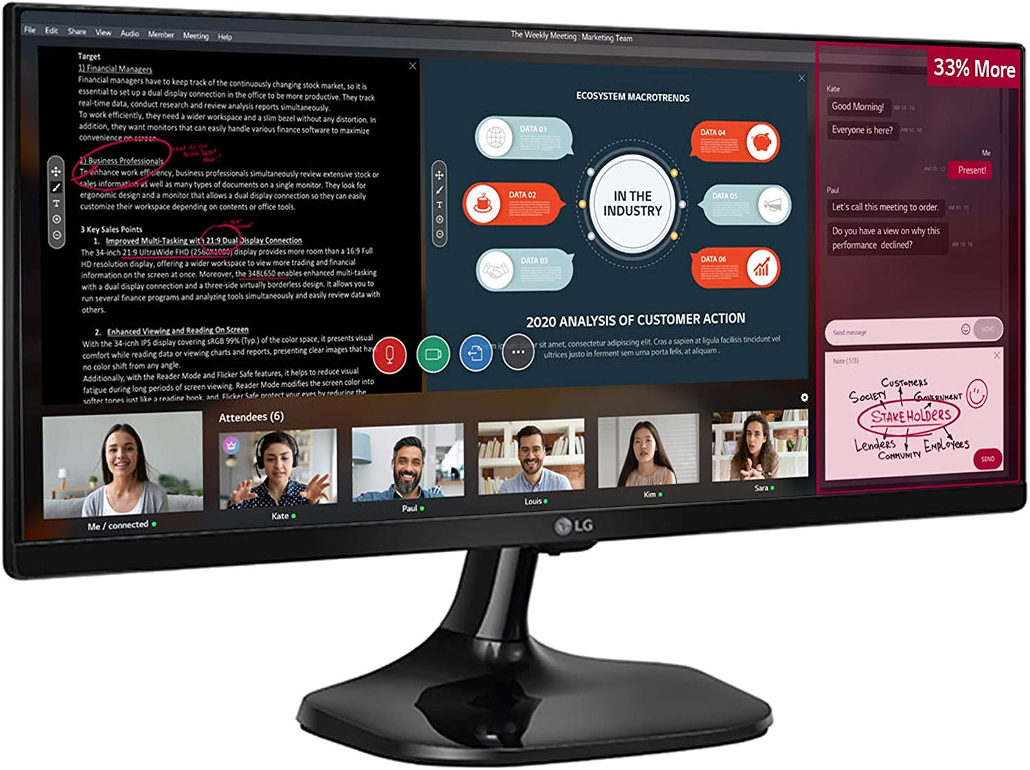 LG Full HD IPS UltraWide Monitor