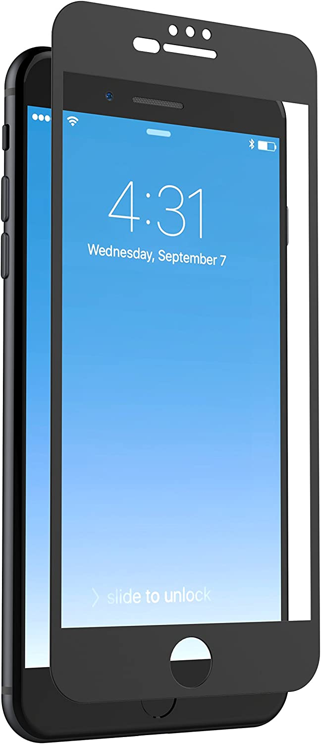 ZAGG InvisibleShield Glass + Luxe Screen Protector for iPhone 8 Plus/7 Plus/6s Plus/6 Plus – Matte Black Finish