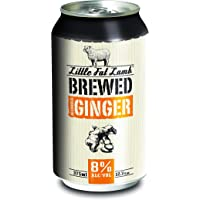 Little Fat Lamb Brewed Ginger 375ml Cans - 10 Pack