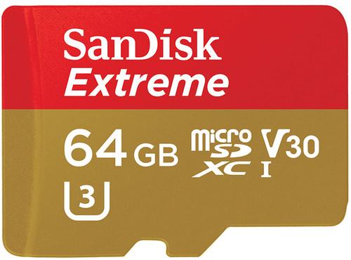 SanDisk 64GB Extreme UHS-I microSDXC Memory SDSQXVF-064G-GN6MA