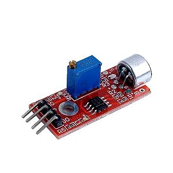 AVR PIC alta sensibilidad micrófono con Sensor sonido detección módulo para Arduino: Amazon.es: Electrónica