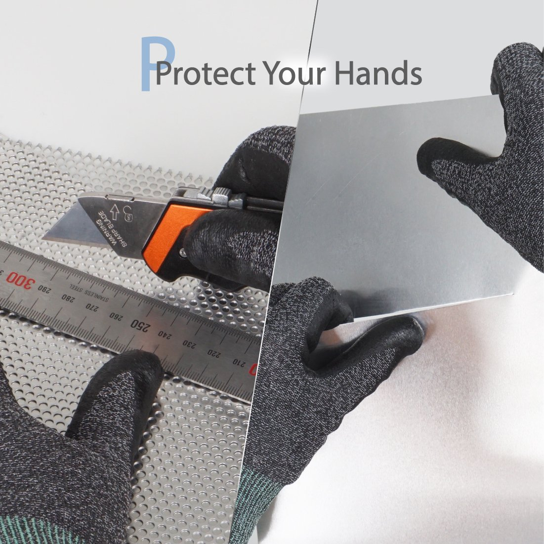 DEX FIT Utility 3D Cut Safety Gloves CR533, Comfort Stretch Fit, Power Grip, Smart Touch, Thin & Lightweight, Washable… 4