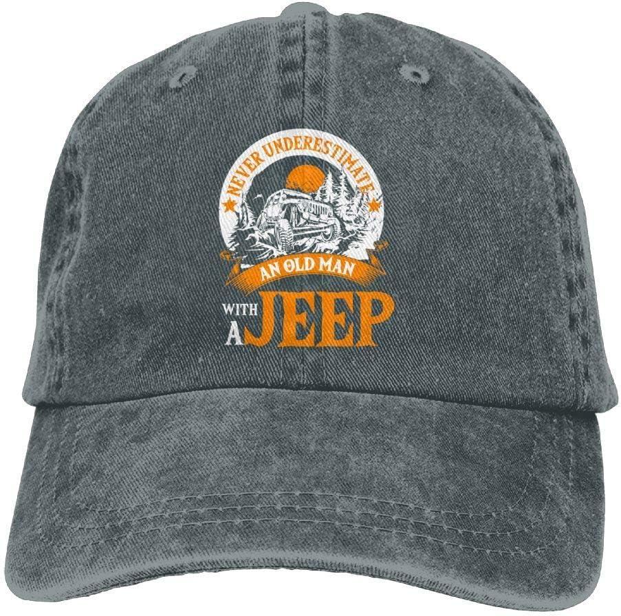 goodshop1988 un Anciano con una Camiseta de Jeep Gorra de Mezclilla Sombrero de b/éisbol cl/ásico Mujeres y Hombres