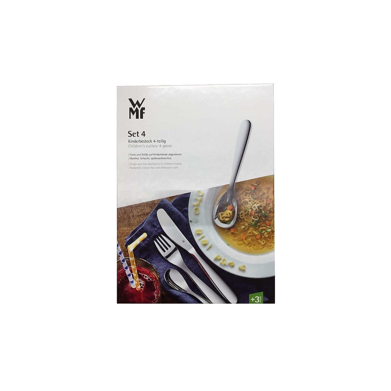 WMF La abeja Maya - Cubertería para niños 4 piezas (tenedor, cuchillo de mesa, cuchara y cuchara pequeña) (WMF Kids infantil): Amazon.es: Hogar