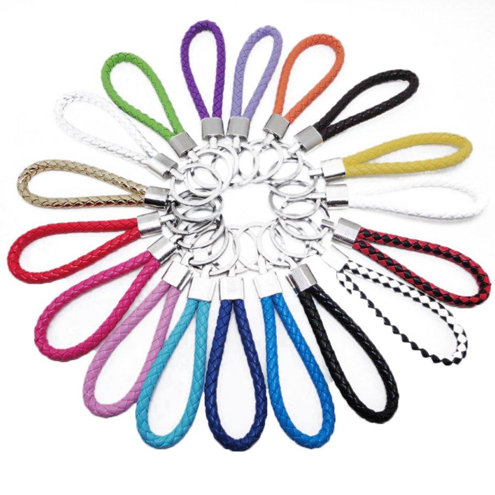 Cosanter Schlüsselkette 9cm Länge Handgelenk Trageband Handschlaufe Schlaufe aus PU Kunstleder for Schlüssel, 10 Stück 10 Stück