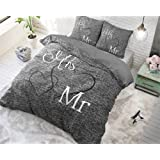 nightlife bettw sche bettbez ge royalties grau 200x200 220 mit 2 kissenbez ge 60x70. Black Bedroom Furniture Sets. Home Design Ideas