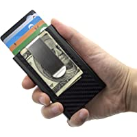 Mosiyeef Metal Credit Card Wallet with Money Clip - Automatic Pop Up Wallet,RFID Blocking Card Holder