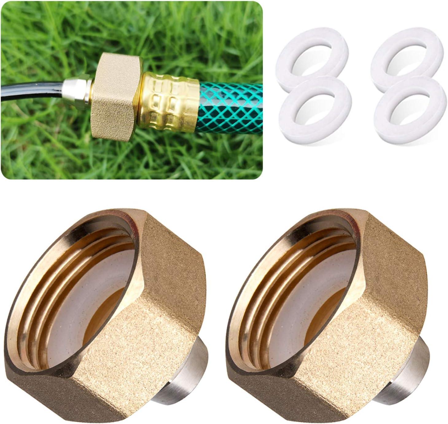 HOMENOTE US Standard Faucet Adapter, 3/4'' to 1/4'' Hose Adapter, Convert 3/4