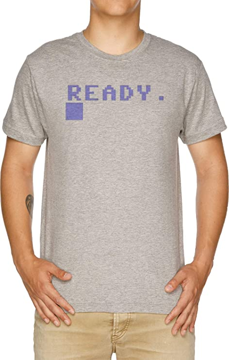 Commodore 64 Ready Prompt T-shirt, S to XXL
