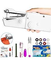 Xpassion Mini Macchina da Cucire Portatile, DIY Handheld Cordless Strumento di Cucitura Rapida, AA Batteria Alimentato, Casa E Viaggio per Vestiti, Stoffa, Tenda, e Fai-da-Te