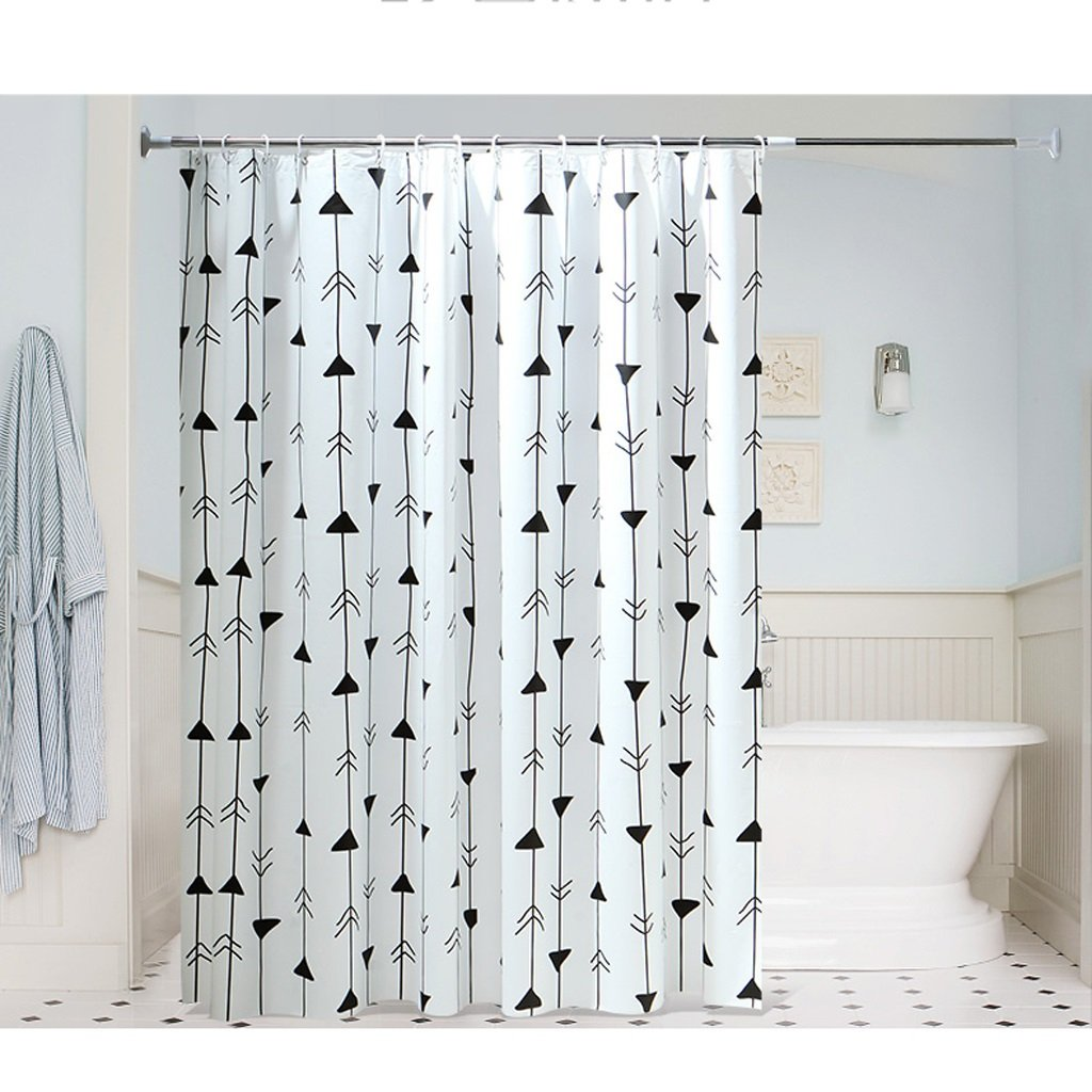 Curtain Shower Curtain Made with Strong and Durable PEVA is Mildew-Free, Non-Toxic, Non-Smelling, Waterproof Shower Curtain Shower Equipment (Size : 200200cm)
