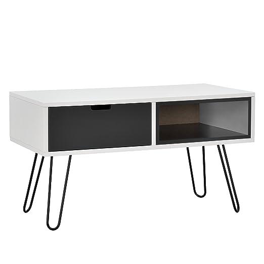 en.casa]®] Cómoda Moderna/Mesa Consola con un cajón y un ...