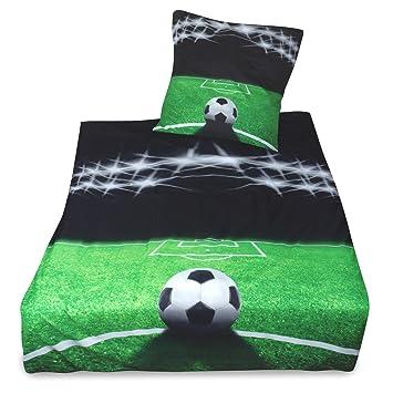 Julido Kinder Microfaser Bettwäsche 135x20080x80cm Fußball Amazon