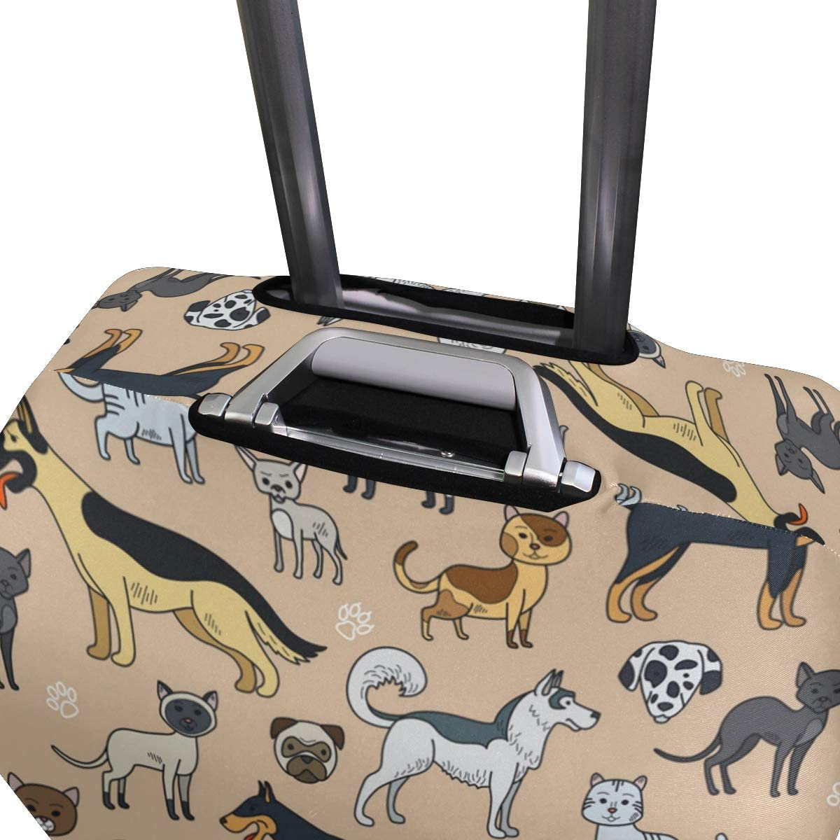 Cute And Sensible Dog Traveler Lightweight Rotating Luggage Protector Case Can Carry With You Can Expand Travel Bag Trolley Rolling Luggage Protector Case