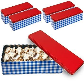 Deuba 4er Keksdose Aufbewahrungsdosen Vorratsdosen Aufbewahrungsbox Set Metall