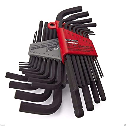 CRAFTSMAN HAND TOOLS 26pc SAE & METRIC MM Allen Hand Tools Home, Furniture & DIY Hex Key wrench set !!
