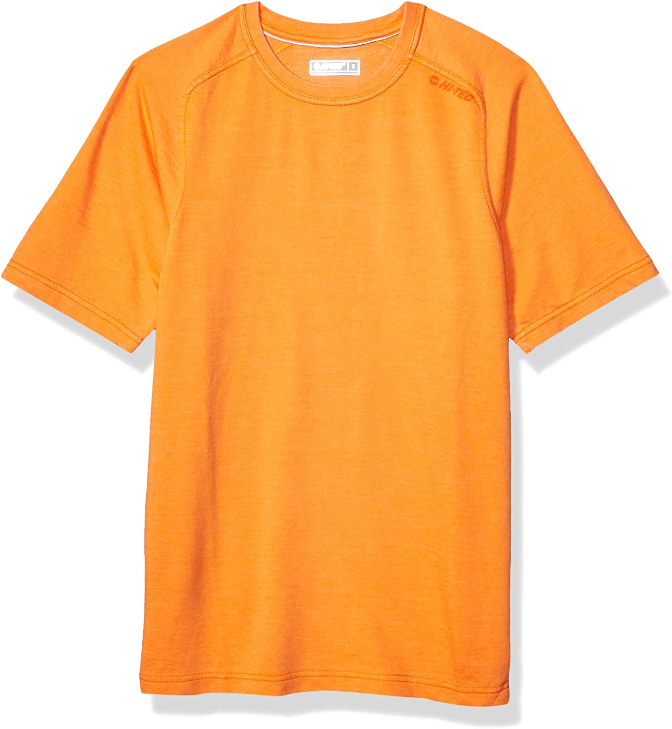 Persimmon Orange HI-TEC Mens Mens Gourd French Terry Crew Short Sleeve T-Shirt S