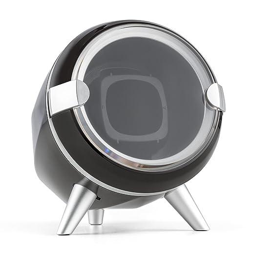 Klarstein Sindelfingen Caja para Relojes (Compacto, Motor silencioso, Amplia Tapa Transparente, 4 programas de rotación, Almohadilla de Terciopelo) - Negro: ...