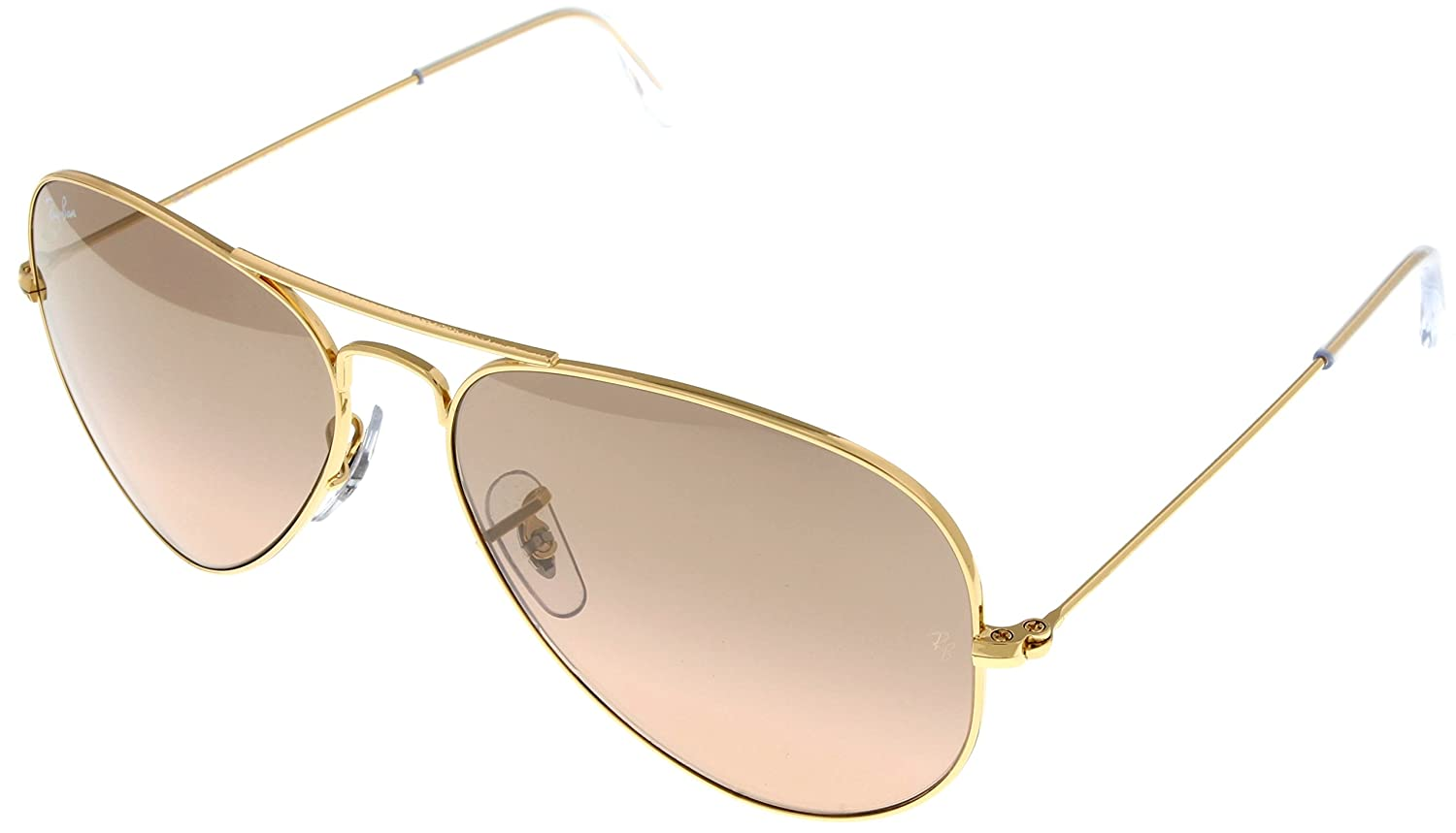 f402dbf9f8 Amazon.com: Ray Ban Sunglasses Aviator Gold Womens RB3025 001/3E: Clothing