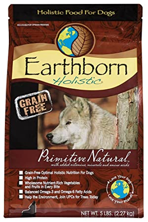 Earthborn Holistic Primitive Natural Grain Free Dry Dog Food 5 Lb