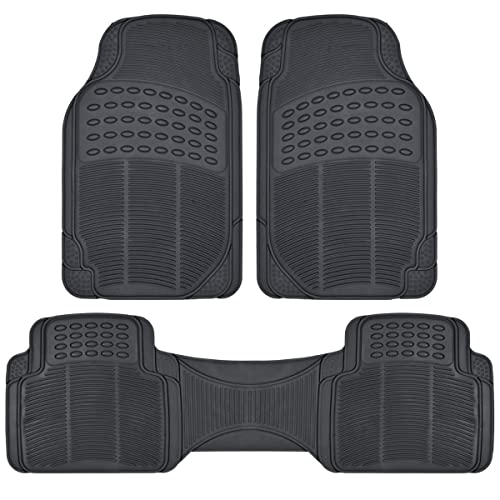 BDK ProLiner Heavy Duty Rubber Auto Floor Mats Liner For Auto   All Weather  3 Piece