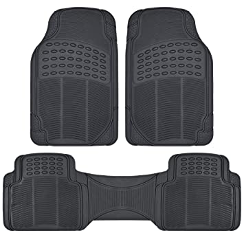 Amazon.com: BDK Heavy Duty Rubber Floor Mats   Universal For Car Truck SUV    Full 3pc Set In Black: Automotive