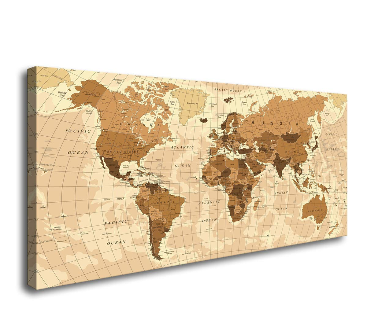 World Map On Hands Wall Art Poster Grand Format A0 Large Print 02 Cheapest Price From Our Site Decorative Arts
