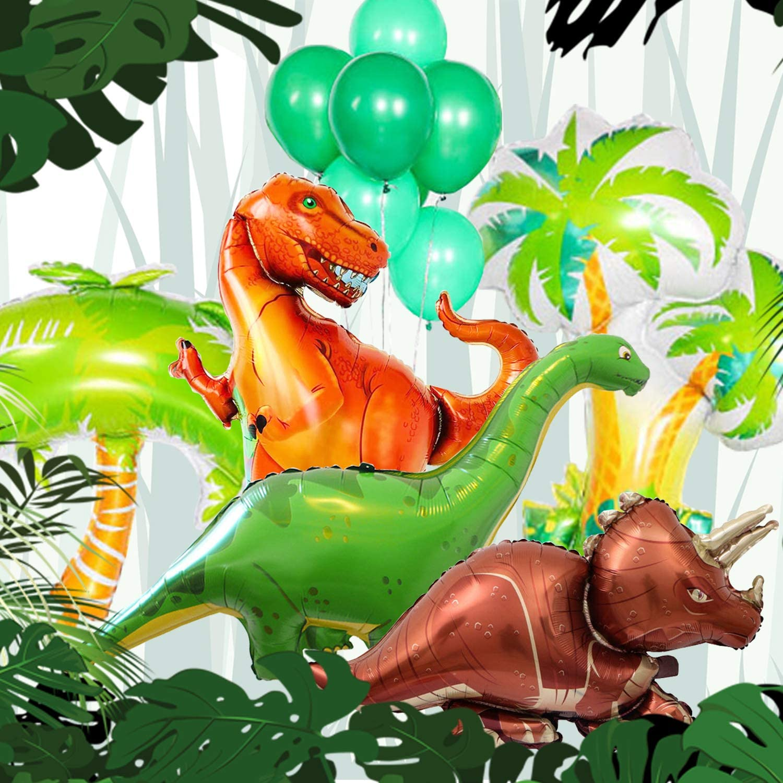 Helium Foil Balloon Children Birthday Party Decor 2 x Cartoon Dinosaur Air