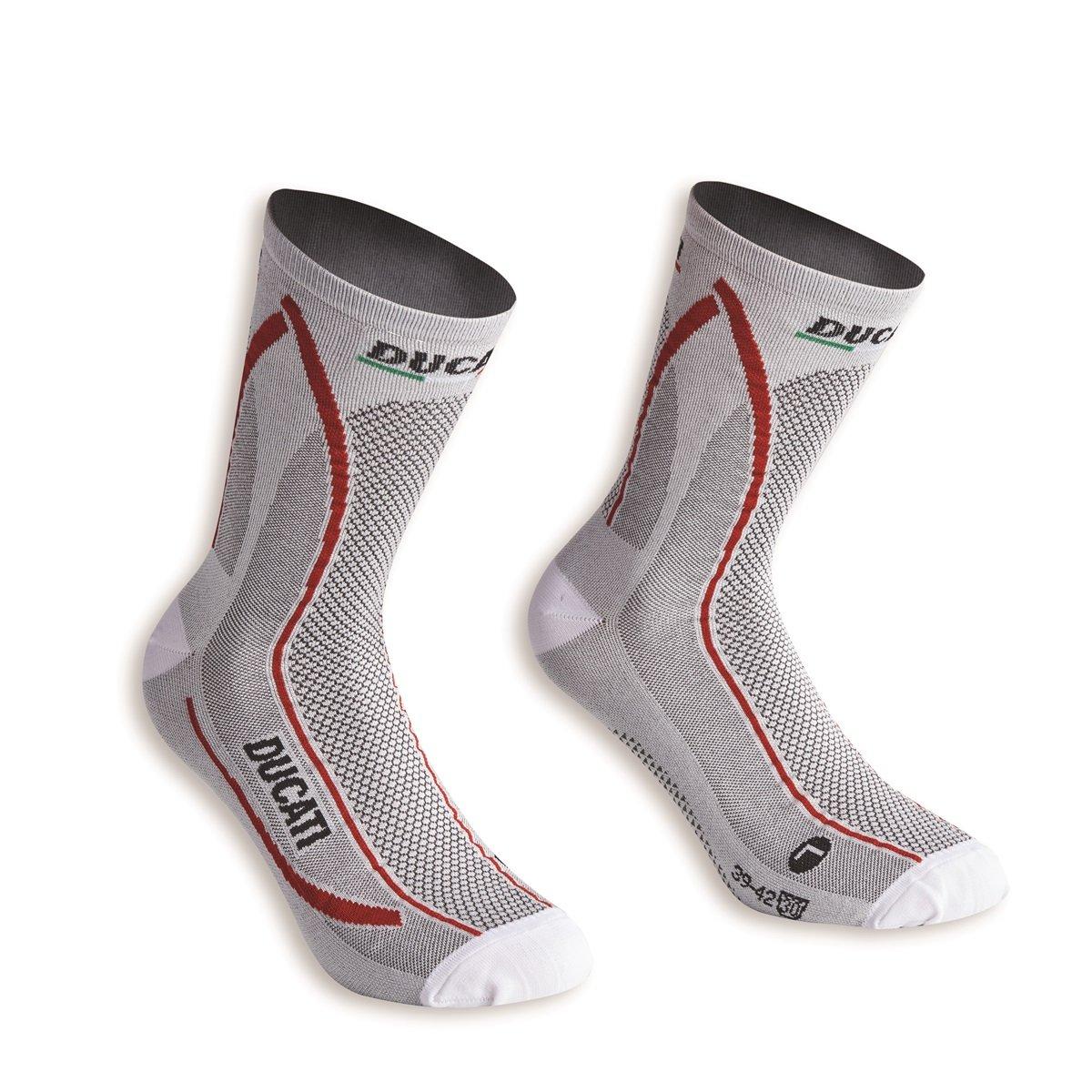 Ducati Cool Down Tech Socks (43/46, white)