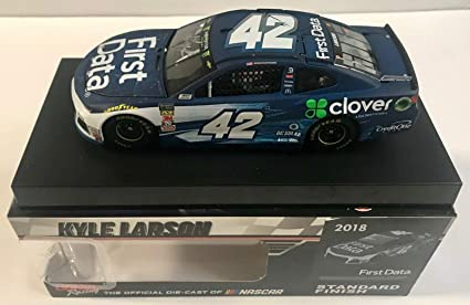 Lionel Racing Kyle Larson Autographed 2018 Clover//First Data 1:24 Nascar Diecast