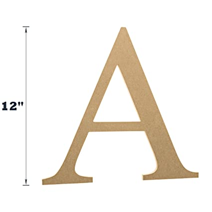 Amazon 12 Wooden Greek Letter Alpha Fraternitysorority