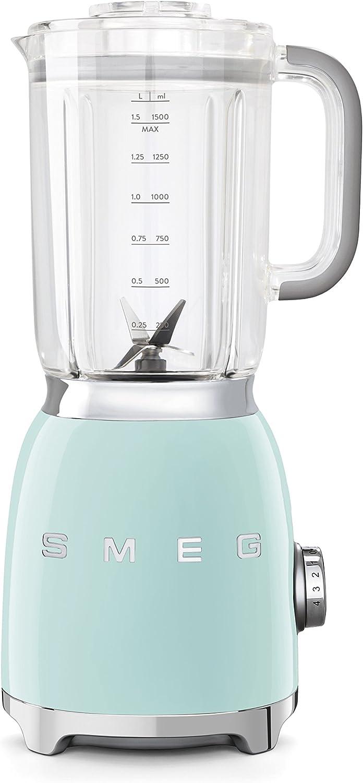 Smeg Batidora BLF01PGEU, 800 W, 1.5 litros, Aluminio, 4 Velocidades, Verde Pastel