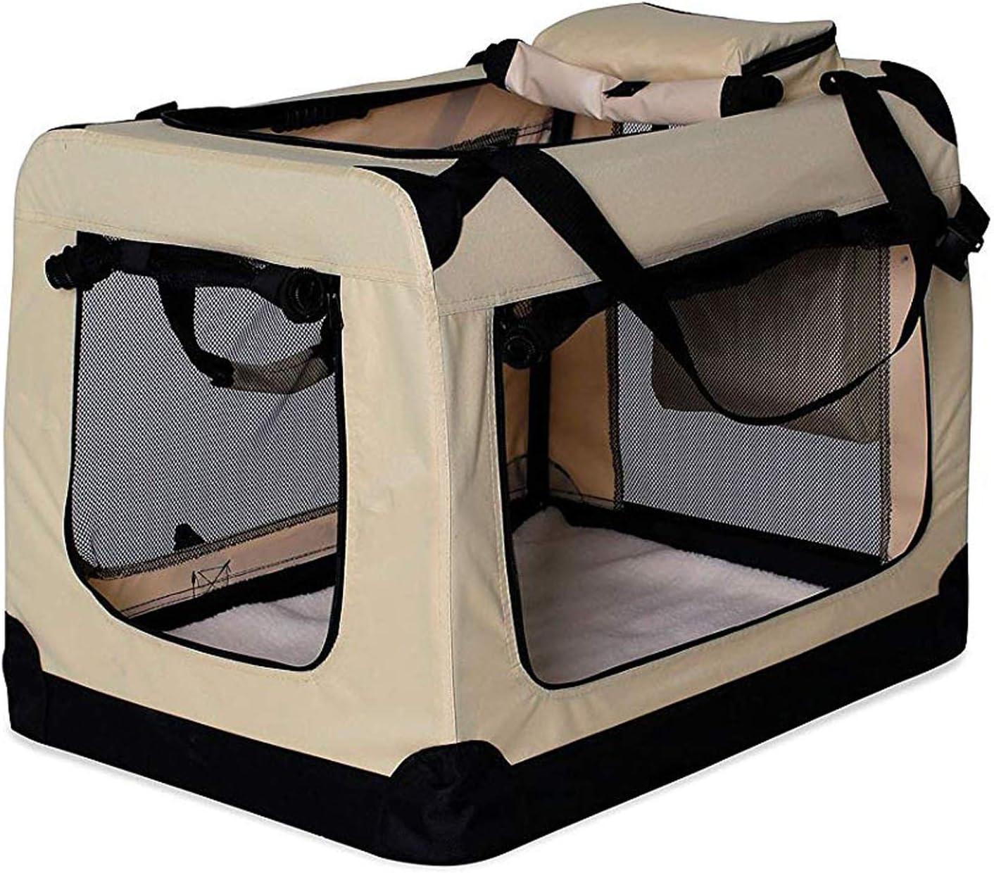 dibea TB10042 Bolsa de Transporte para Perros y Gatos, Beige, (L) 70x52x50 cm