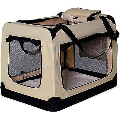 dibea TB10040 Bolsa de Transporte para Perros y Gatos, Beige, (S) 50x34x36 cm