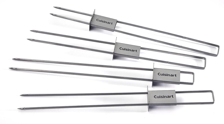 Cuisinart CSKS-048 Sliding Skewer Pack of 4, Silver