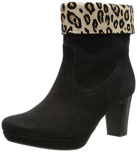 Gabor Shoes Comfort 72.993.37, Damen Stiefel, Schwarz (schw/desert(Micro)), EU 35 (UK 2.5) (US 5)