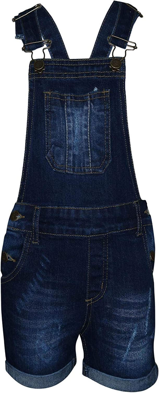 A2Z 4 Kids Bambini Ragazze Salopette Pantaloncini Designer Denim Strappato Allungare Jeans Overall Tutto in Uno Tuta Playsuit et/à 5 6 7 8 9 10 11 12 13 Anni