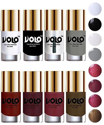 Volo High Shine Long Lasting Non Toxic Professional Nail Polish Set Of 8 Matte