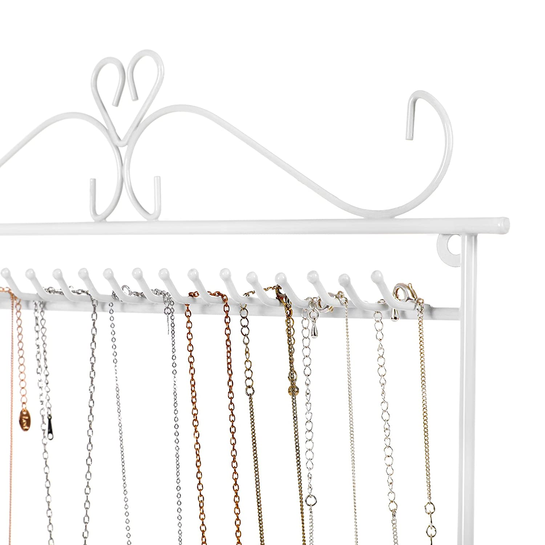 SONGMICS Jewellery Holder Jewellery Stand metal Earring Necklace Bracelet Holder JDS023W Home & Kitchen