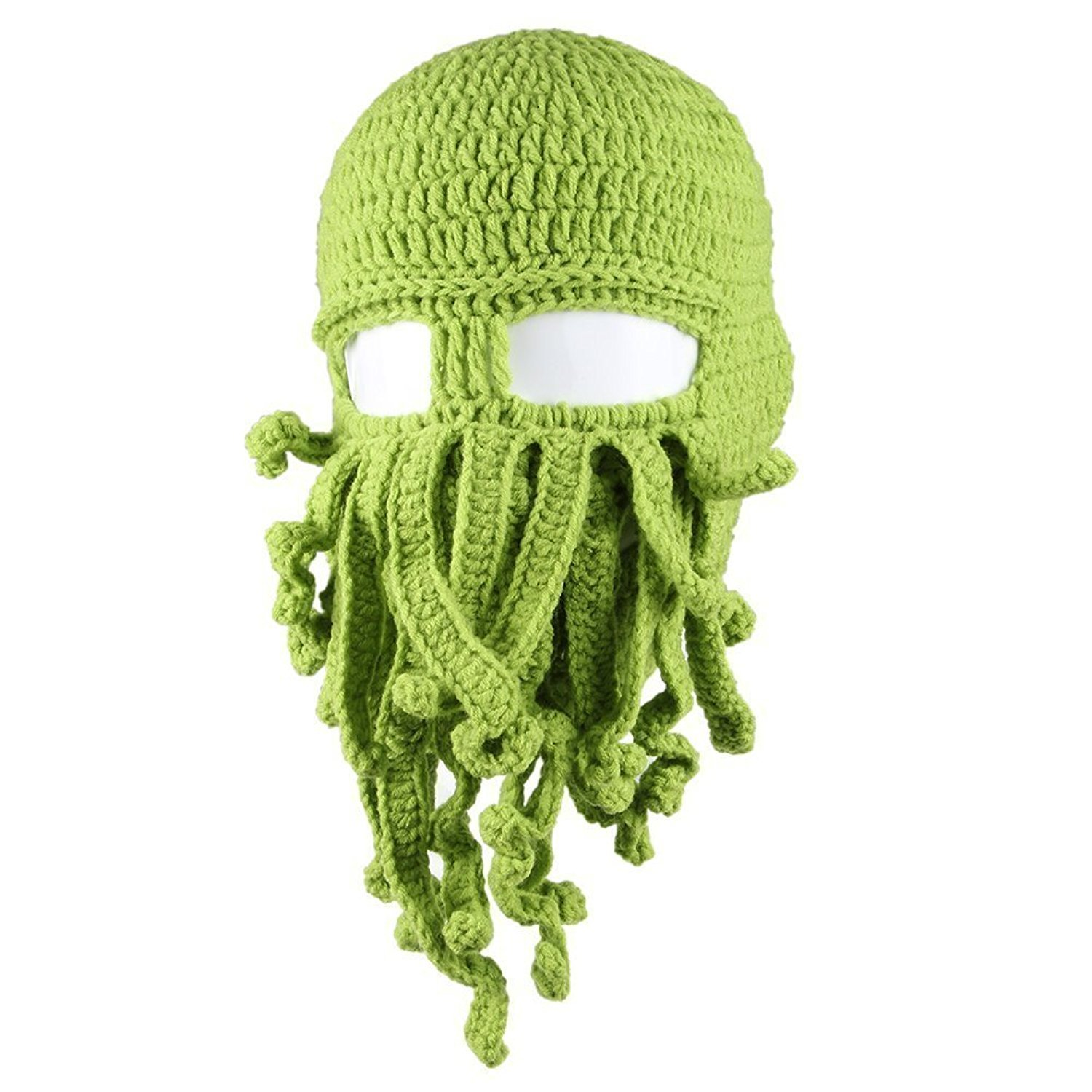 Engerla Unisex-Adult Octopus Knit Cthulhu Barbarian Warm Hats for Winter Ski EP118-01