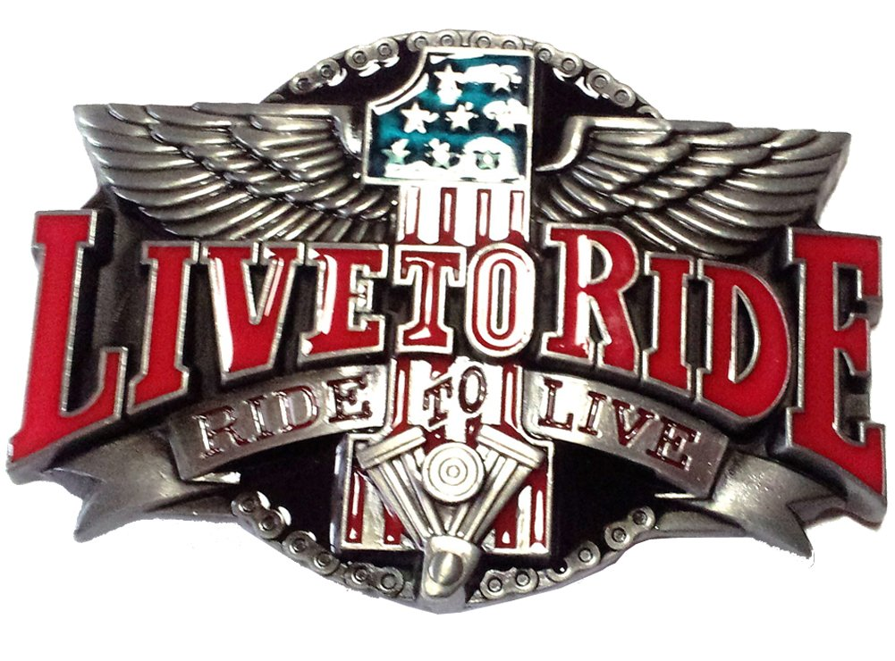 Fibbia Harley V-Twin Live to Ride USA - Fibbia Piratenladen