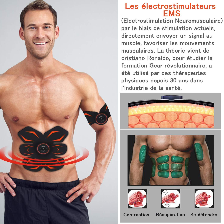 MOREASE Electroestimulador Muscular Entrenamiento Abdominal ...