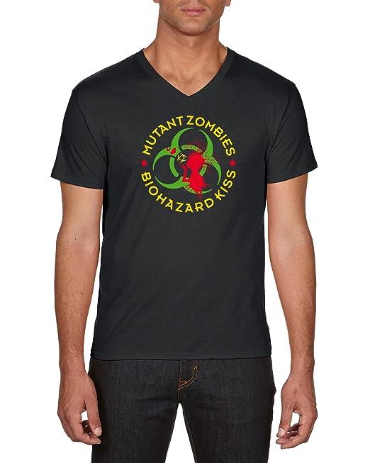 Touchlines Mutant Zombies Bioharzard Kiss, Camiseta para Hombre: Amazon.es: Ropa y accesorios