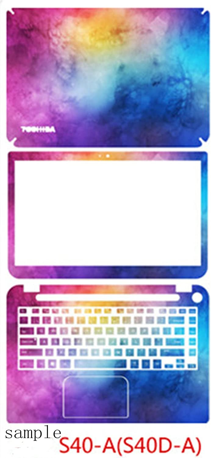 Protective laptop notebook cover wrap Removable/ Decal Skin Sticker for Toshiba S40-A//S40D-A