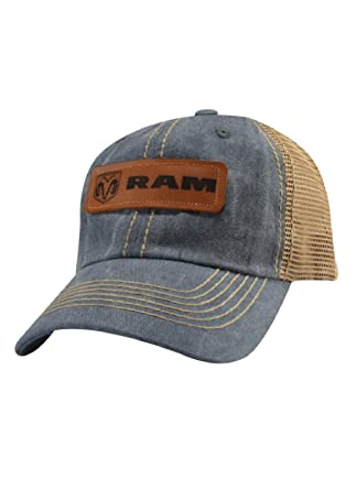 424e70b6540 Ram Leather Patch Cap at Amazon Men s Clothing store